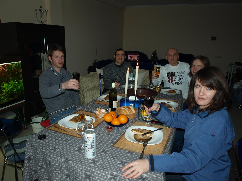 New Year 2012. Meeting of aquafriends