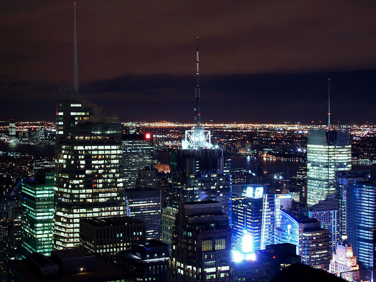 New York bei Nacht vom Rockefeller Center