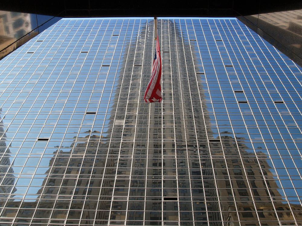 New York City - Chrysler-Gebäude (Spiegelung)