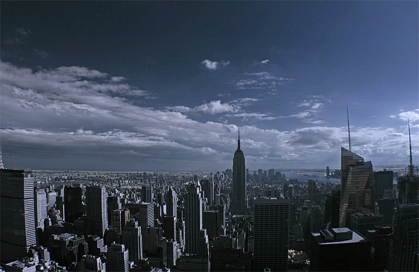 New York City in Infrarot