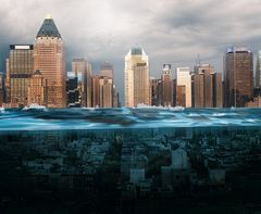 New York City underwater