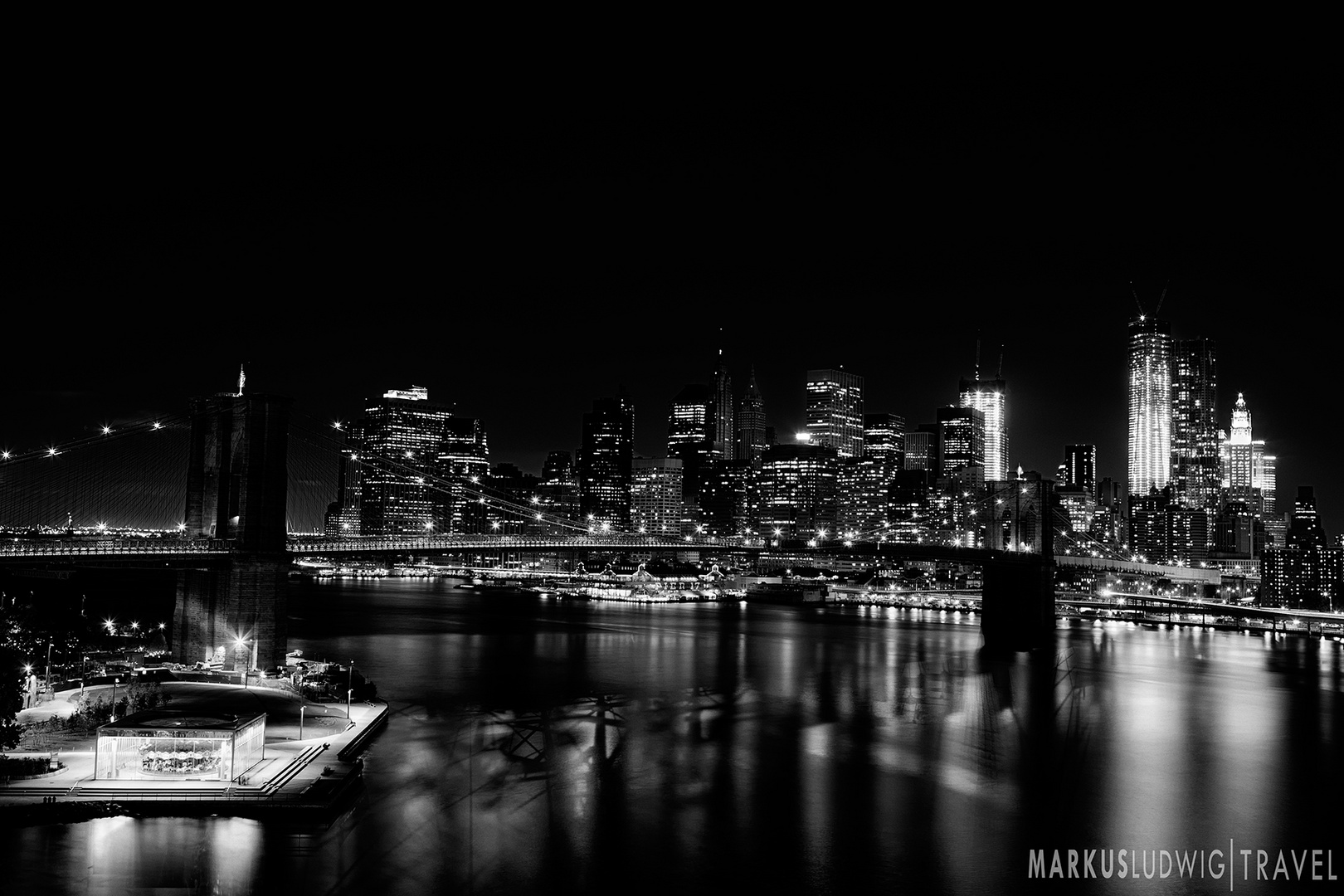 New York Classic Skyline NIGHT (feat. Freedom Tower)