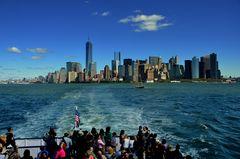 New York Richtung Freiheit Statue