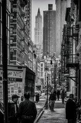 New York Street BW