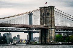 New Yorker Ansichten - Brooklyn und Manhattan Bridge