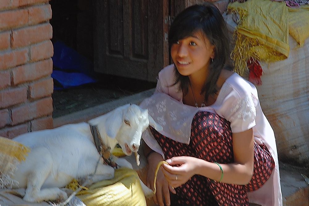 Newa girl in Bungmati