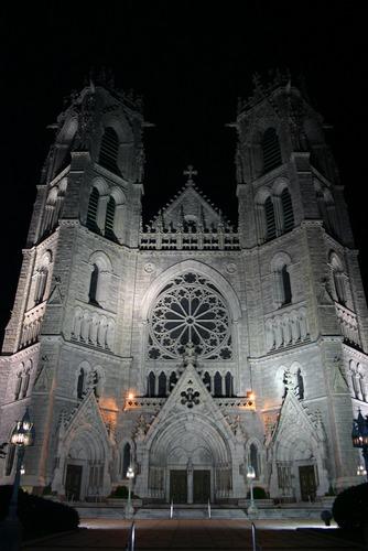Newark Cathedral at Night