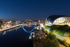 Newcastle upon Tyne by night