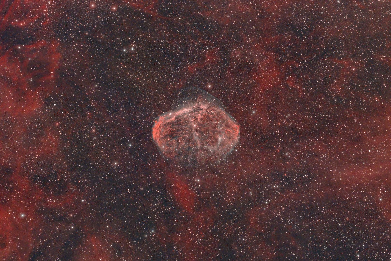 NGC6888, Mondsichel Nebel, Ohr Nebel, Crescent Nebel ...