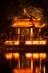 Ngoc Son Tempel im Hoan Kiem See Hanoi