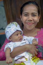 Ni Kadek Mayang Sari and her son Mayun