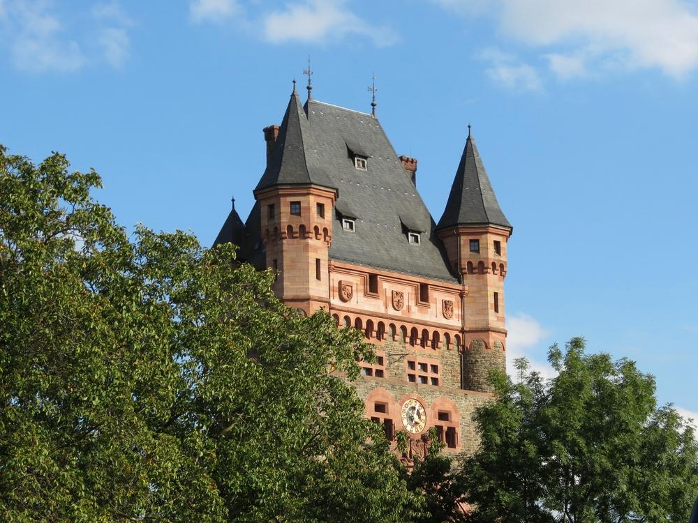 Nibelungentor über den Rhein , bei Worms