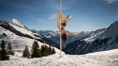 winter pole dance