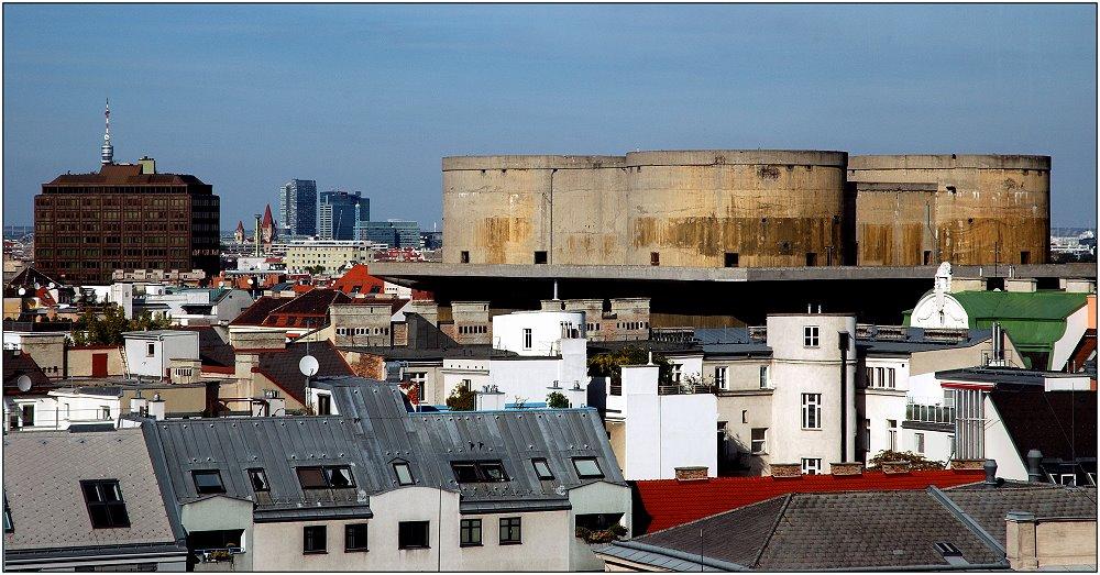 ... nicht jeder Blick über die Dächer Wiens ist schön ...
