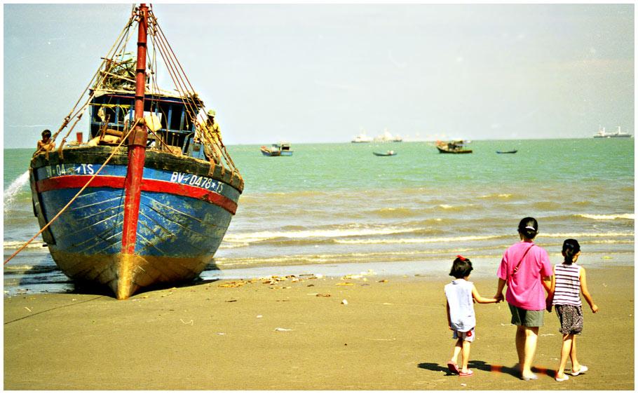 Nicht weit von hier begann 1979 die Odyssee auf einem solchen Boot