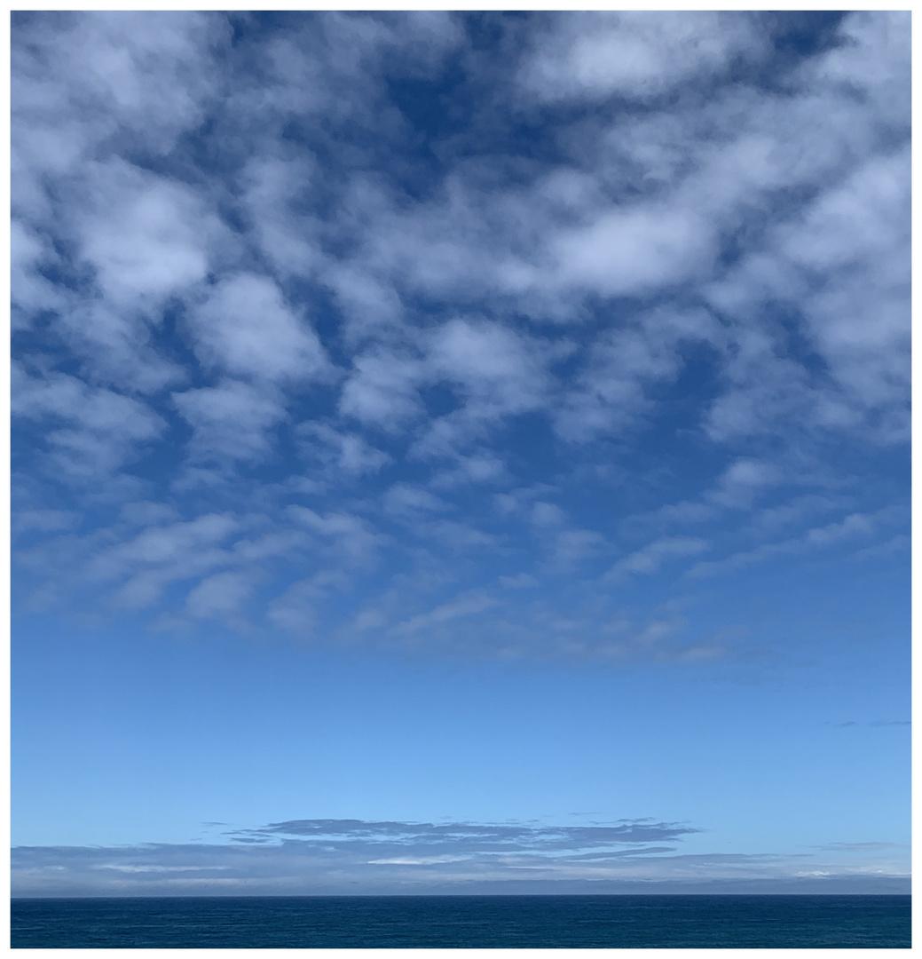 Nichts als Himmel und Meer