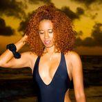 Nidia Ortiz at the beach