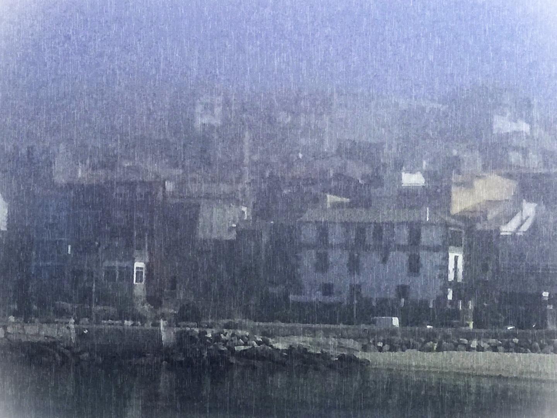 Niebla en La Guardia, Galicia