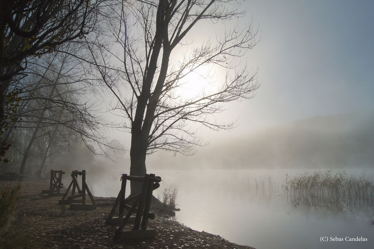 niebla en la lagunas de ruidera 1