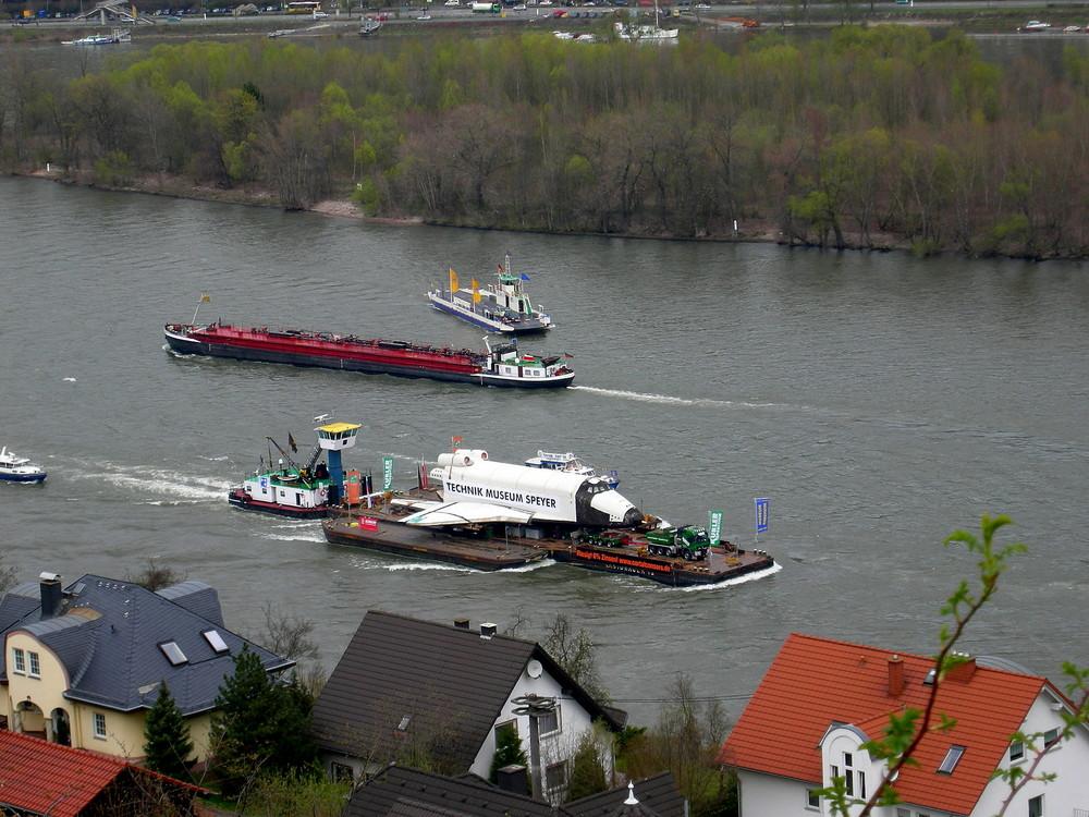 Niederheimbach - Raumfahrt auf dem Rhein