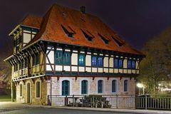 Niedermühle in Steinfurt bei Nacht