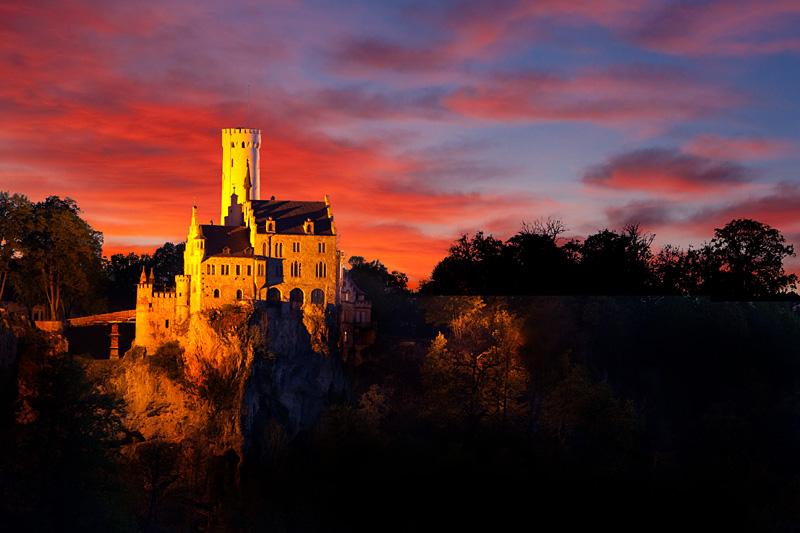 #niederrheinfoto | Schloss Lichtenstein - Burgenromantik am Albtrauf