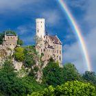 #niederrheinfoto | Schloss Lichtenstein mit Regenbogen - Burgenromantik am Albtrauf