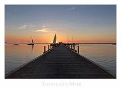 """Niedersächsische - Impressionen """" Sonnenuntergang am Steinhuder Meer..."""""""
