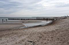 Niedrigwasser in Warnemünde am 27.12.2020