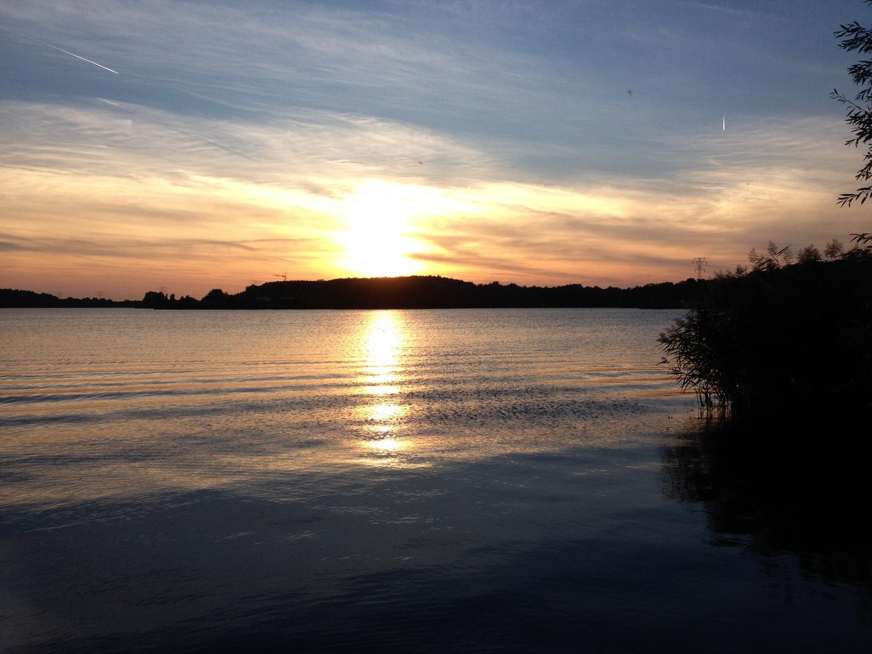 Niegripper See im Sonnenuntergang
