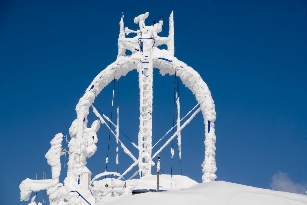 nieve en la estacion meteorologica