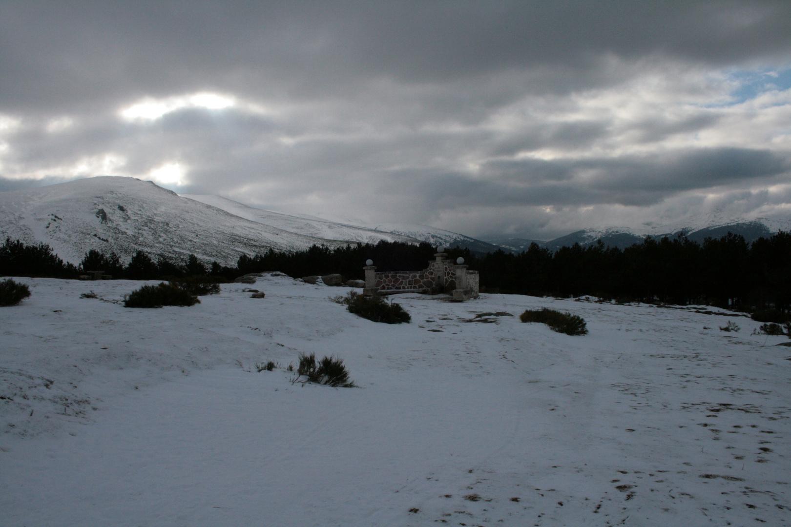 Nieve en la Morcuera