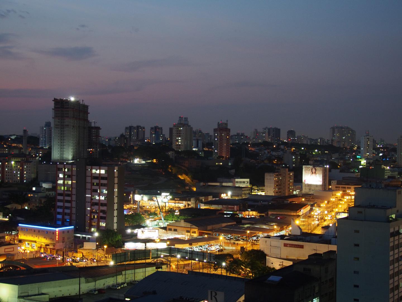 Night falls over Sao Paulo