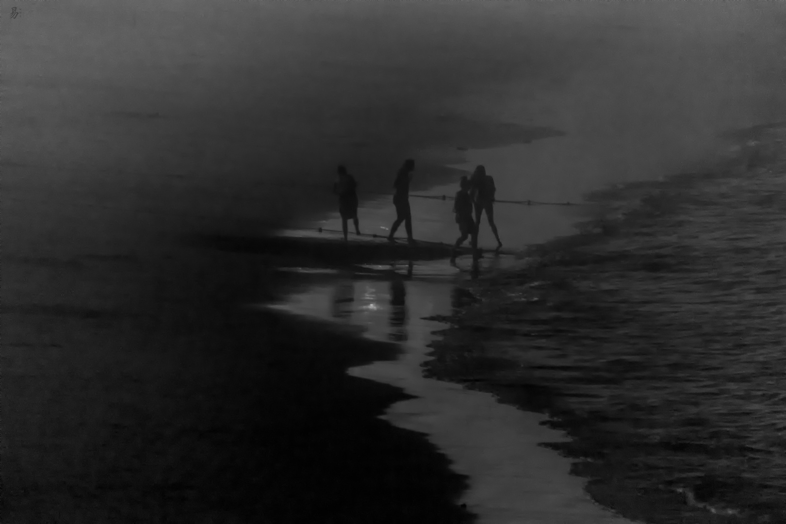 night fog on the beach