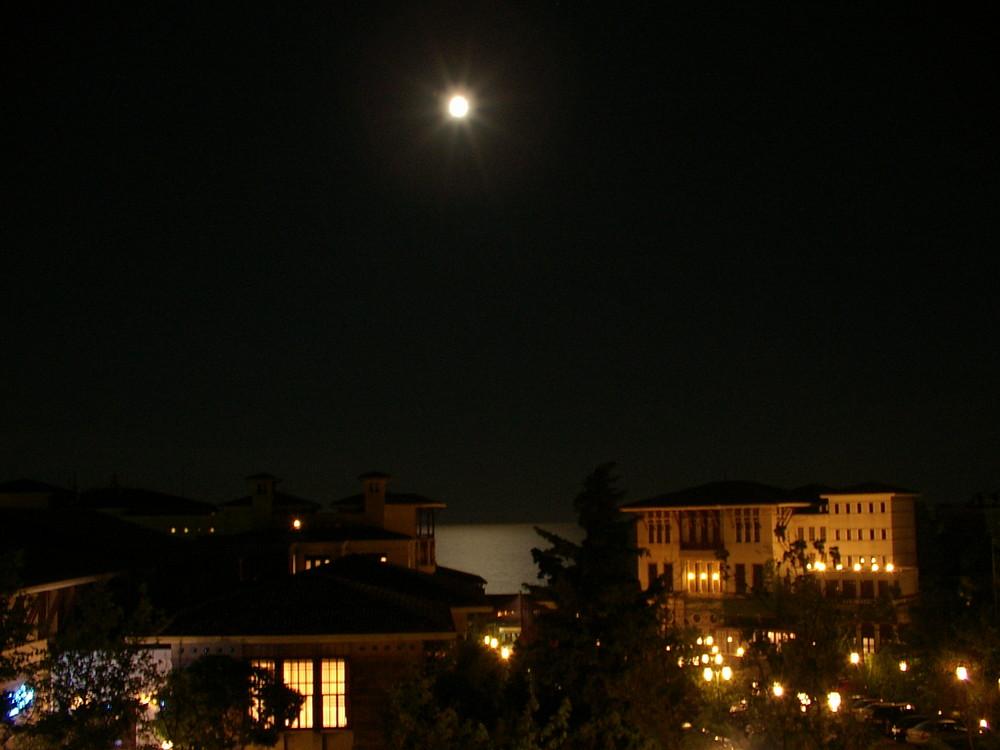 Night mood on Marmara sea