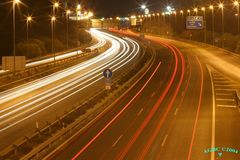Night traffic (Marbella, Spain)