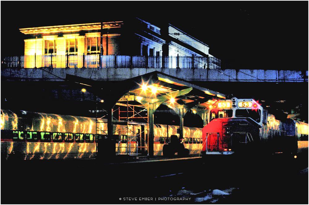Night Trains No.1 - MARC Platforms Penn Station, Baltimore