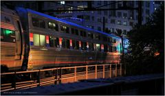 "Night Trains No.8 - Northbound Amtrak ""Palmetto"" Entering Washington D.C."