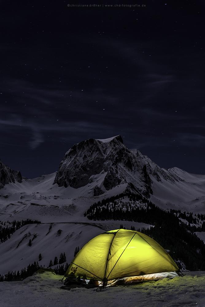 Night under stars