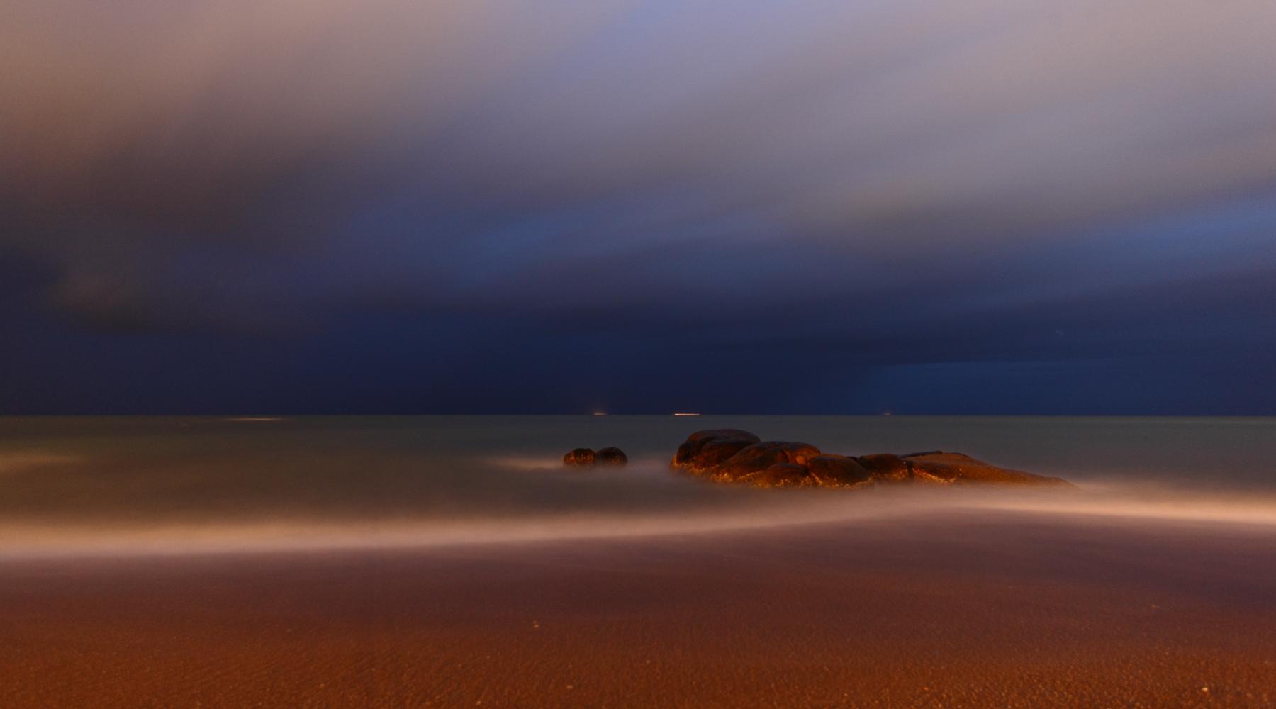night view on Khaolak beach