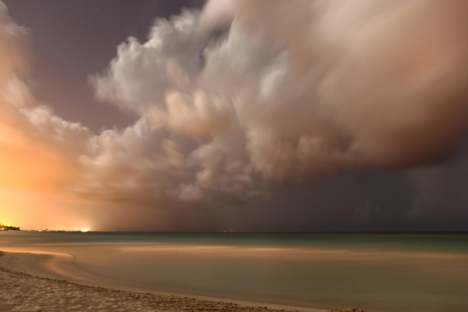 night view on Varadero beach