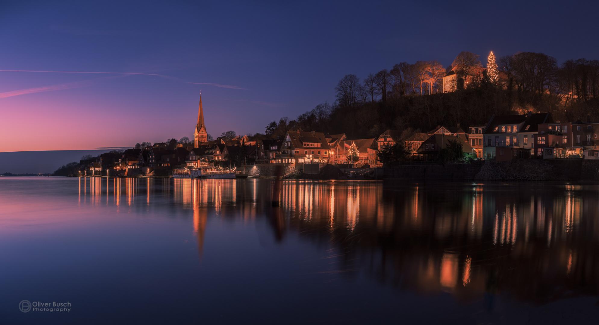 Nightfall over Lauenburg