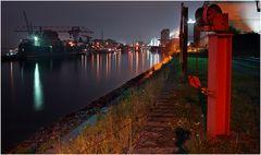 NightView - Krefeld Hafen XXVII - Fotohome Sammlung