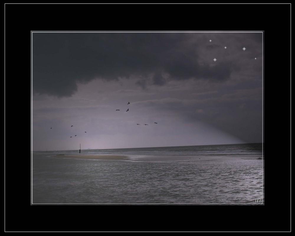 nigth over the sea II (black)