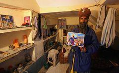 Nihang Sikh in his room