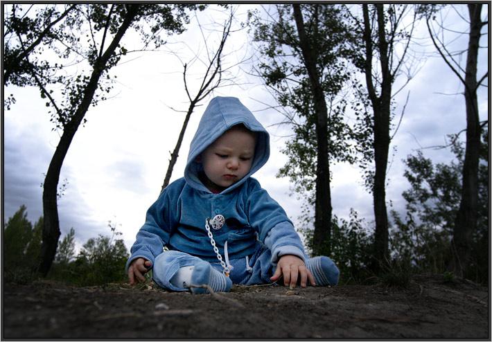 Niklas between trees