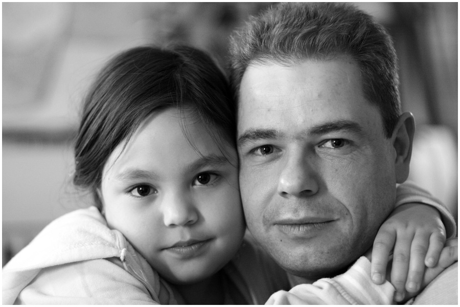 Nina mit Papa