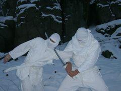 Ninjutsu-Training im Schnee