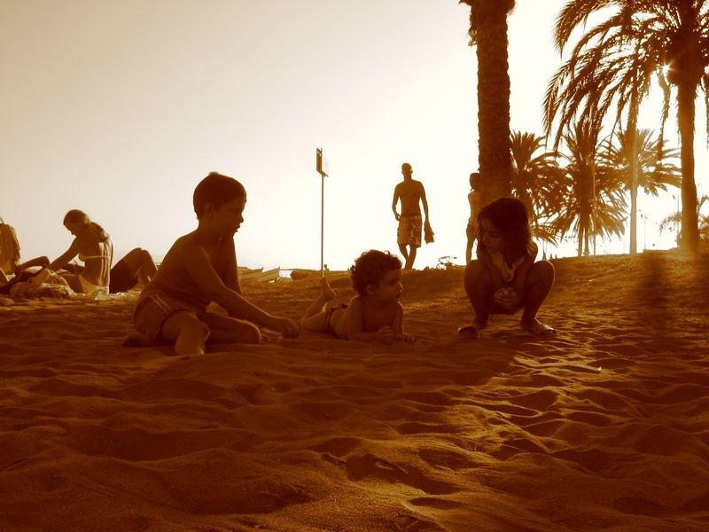 Niños en Málaga
