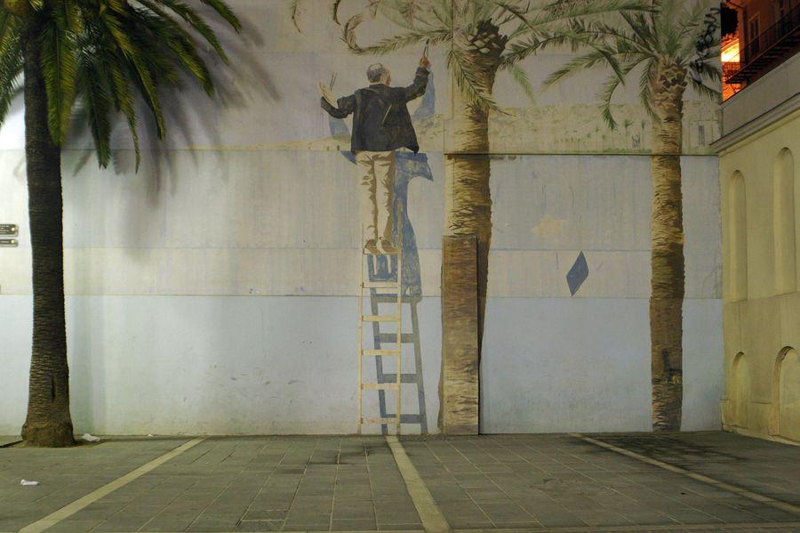 Nizza - Maler auf Leiter